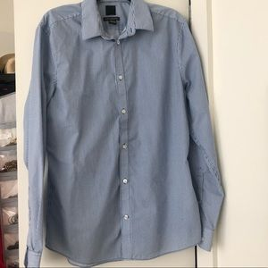 H&M Men's Striped Button Down Shirt (Large Slim)